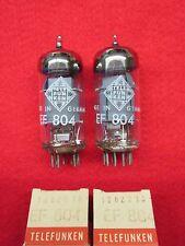 Matched pair EF804 TELEFUNKEN NOS NEU Raute Röhre Tube NEW Valve Valvula Valvola