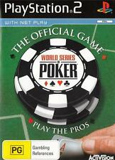 WORLD SERIES Of POKER PlayStation 2 Game  PS2