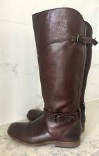 $400 FRYE Phillip Riding Tall Boot Buckle Brown Leather Sz 8