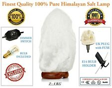 2 - 4 KG HIMALAYAN WHITE SALT ROCK CRYSTAL LAMP NATURAL HEALING IONIZING LAMPS