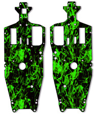 Traxxas Jato - Chassis Plate Protector Kit - Green Flames