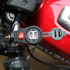 5V 3A Waterproof Motorcycle 2-USB Socket Power Supply Charger for Phone GPS