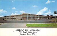 Houston Texas 1960s Postcard Rodeway Inn Motel Astrodome
