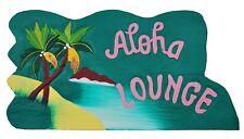Decoración Letrero Aloha Lounge 57cm para Mostrador Sala de ocio Lounge/