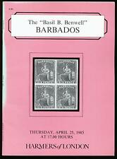 BARBADOS, the Basil Benwell collection, 1985 auction catalogue
