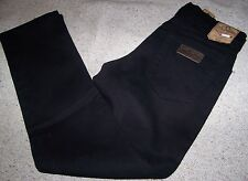 WRANGLER jeans TEXAS Denim Stretch Black Tg.W30L34 Nero Elasticizzato