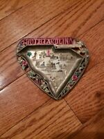 VINTAGE ORNATE METAL ASHTRAY - SOUTH CAROLINA - USA