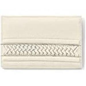 Brighton Santorini Folio Wallet- WHITE /OFF WHITE   NW outlet tag