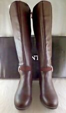 NIB Womens Wanted Cavalier Boot In Brown with Zipper Size 7
