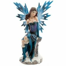 WINTER DAYDREAMER Sitting SNOW FAIRY FIGURINE
