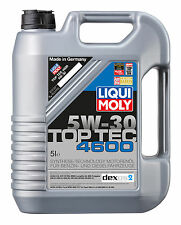 ENGINE OIL Liqui Moly Top Tec 4600 5W30 2316 - 5 Litre GM DEXOS 2 C3