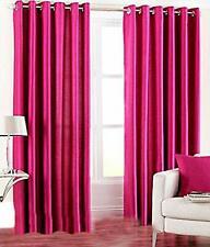 New Polyester 2 Piece Door Curtain Set - Pink, 4 x 7 ft