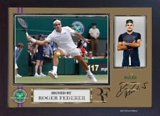 Roger Federer signed autograph photo print picture Tennis Wimbledon Framed