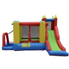 Castle Jumper Bounce House Inflatable Moonwalk Bouncer Slide Without Blower HTBM