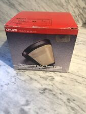 Krups 48605 053o-33 Permanent Gold Tone Coffee Maker Filter New In Box Unused
