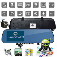 "5"" HD 1080P Android WIFI GPS Navi Rear Mirror Dash Camera CAR DVR Smartwild W840"
