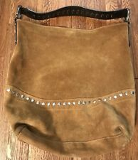 Maurizio Taiuti Bucket Shoulder Bag Suede Made in Italy M