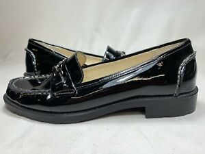 New in Box Anne Klein iFlex Lyndsy Black Patent Leather Loafers Size 6