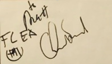 Chad Smith & FLEA Signed card 3x5 The Red Hot Chilli Peppers Autographed Cut