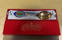Rare 1998 A. Michelsen Danish Modern Gilded Sterling Christmas Spoon