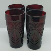 Luminarc Arcoroc Cristal D'Arques Antique Ruby Red Cooler Glasses (Set of 4)