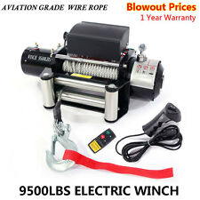 NEW Classic 9500lbs 12V Electric 4wd Winch Kit Wireless Remote Control