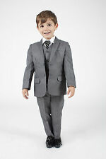 Boys Suits 5 Piece Waistcoat Suit Wedding Page Boy Baby Formal Party 3 Colours
