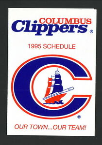 Columbus Clippers--1995 Pocket Schedule--Yankees Affiliate