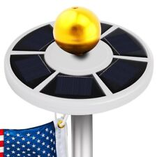 Openuye Solar Flag Pole Lights 26 Led Weatherproof Flagpole Downlight