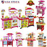 Kitchen Playset For Kids Pretend Play Refrigerator Oven Toy Cooking Set Toddler