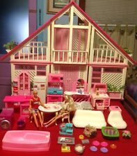1978 Vintage A-Frame Barbie Dream House 3 Sections House Loaded Of Furnitures!