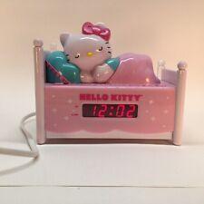 Hello Kitty Sleeping Kitty Alarm Clock Radio Night light Bed Posts light up