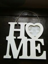 Decorative HOME Letter Style Love Heart White Picture Frame Hanging Ornament