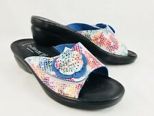 Flexus by Spring Step Fabia Multi-Color Slides Sandals Womens Size 36 / 5.5-6