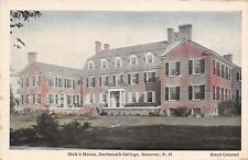 Hanover New Hampshire~Handcolored Dartmouth College~Dick's House~1949