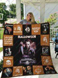 Halloween Film Michael Myers Gift Quilt Blanket, Fleece Blanket Made In Us