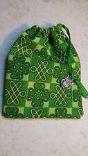 "Celtic OWL Celtic Knot Irish JEWELRY Rosary Pouch bag 4"" x 3"" Lined NICE Gift!"