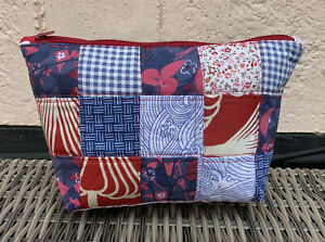 Handmade Zipper Patchwork Notions Pouch - Make-up Bag - Pencil Case - Knitting