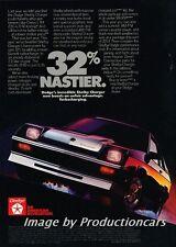 1985 Dodge Shelby Charger - NASTIER Original Advertisement Print Art Car Ad J750