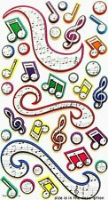 COLOURFUL MUSIC Sticko 3-D Stickers - Treble Clef Octave Crochet  Musical