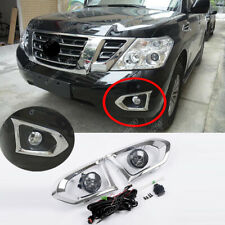 Halogen Front Fog Lamp Kit with/ Switch/ Wiring For Nissan PATROL Y62 2017-2018
