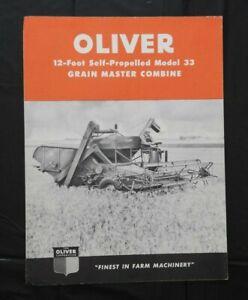 "GENUINE 1950 ""THE OLIVER MODEL 33 GRAIN MASTER COMBINE"" SALES BROCHURE VERY NICE"