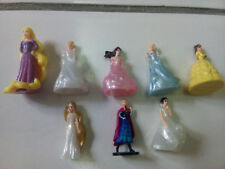 LOT DE 8 FIGURINES PRINCESSES DISNEY KINDER ANNA ELSA BLANCHE-NEIGE ... NEUVES