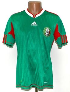 MEXICO NATIONAL TEAM 2010/2011 HOME FOOTBALL SHIRT JERSEY ADIDAS SIZE S ADULT