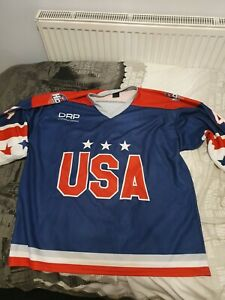 Rob Schremp Game Worn hockey Jersey superseries USA v Canada 2019