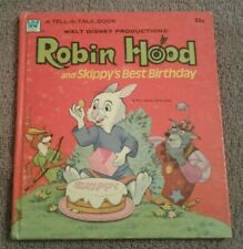 Robin Hood And Skippy's Best Birthday 1973 Tell A Tale Vintage Children's Book