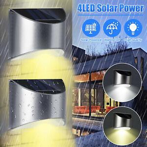 LED Solarleuchte Wandleuchte Edelstahl Zaunleuchte Außenlampe Garten Leuchte