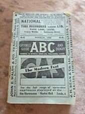 Goodall's Guide ABC and Diary Train Time Table - March 1950 - Leeds - VGC