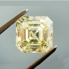Cubic Zirconia (CZ) 5 MM Yellow Asscher Vibrant Loose Stone For Jewelry