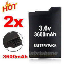2x 3600mAh Replacement For Sony PSP Battery Rechargeable SLIM 2000/3000 Console